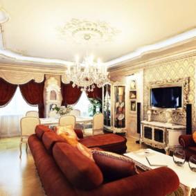 Conception de salon-salle à manger de style classique