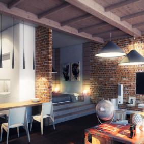 Design d'intérieur d'une maison privée avec des éléments de loft