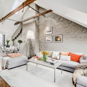 Style scandinave dans la conception d'une maison de campagne