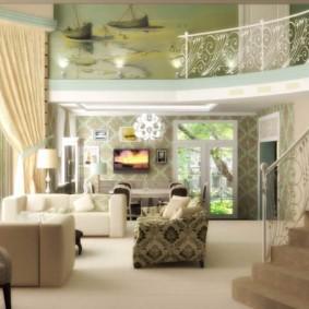 Concevoir un salon dans une maison avec un escalier