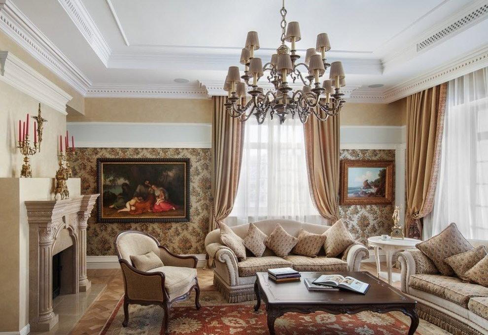 Phòng khách góc cổ điển