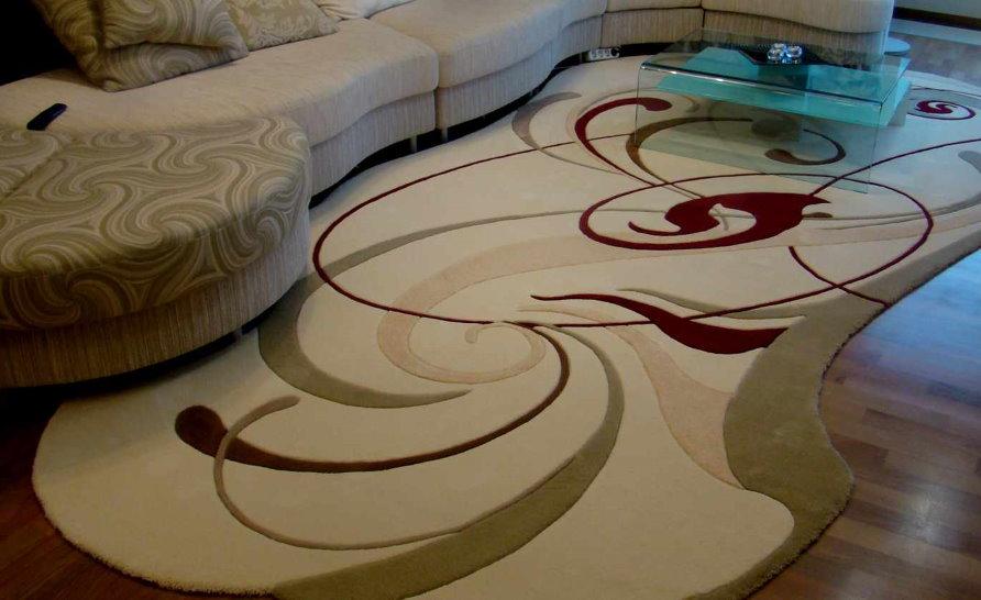 Sélection de tapis dans le salon pour les meubles rembourrés