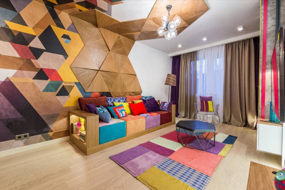 Trang trí tường và trần với tấm gỗ