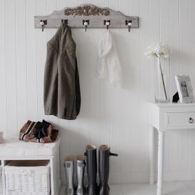 cintres muraux dans le couloir idées photo