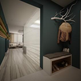 cintres muraux dans le hall