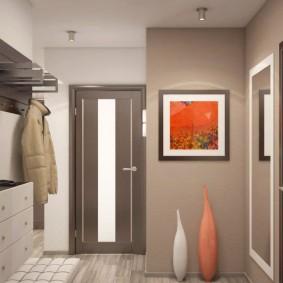 cintres muraux dans le couloir vues photo