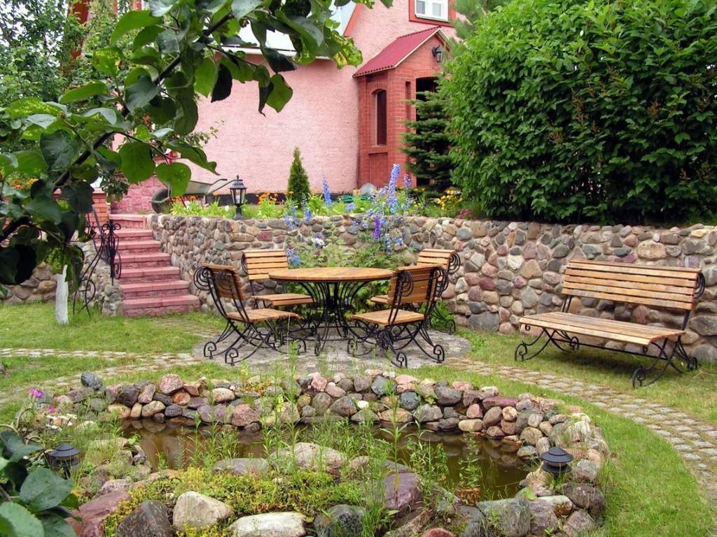 Mobilier de jardin sur ossature métallique