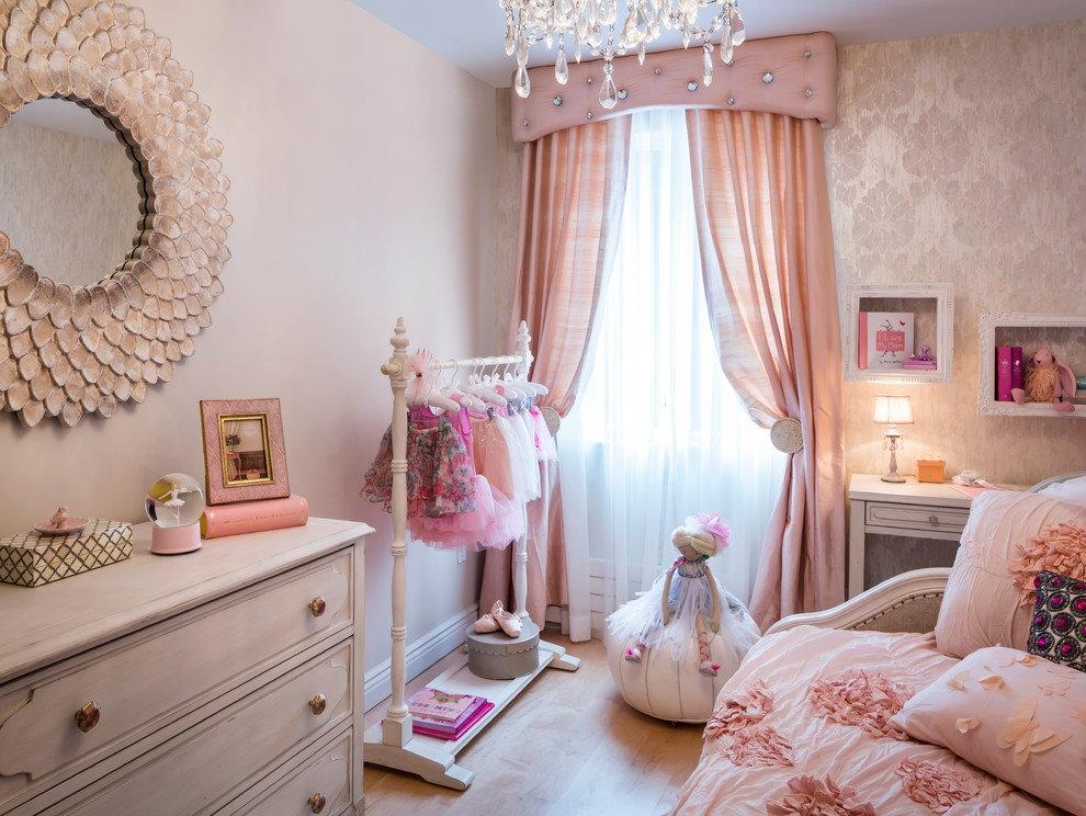 Intérieur d'une chambre d'enfant pour une jeune fashionista