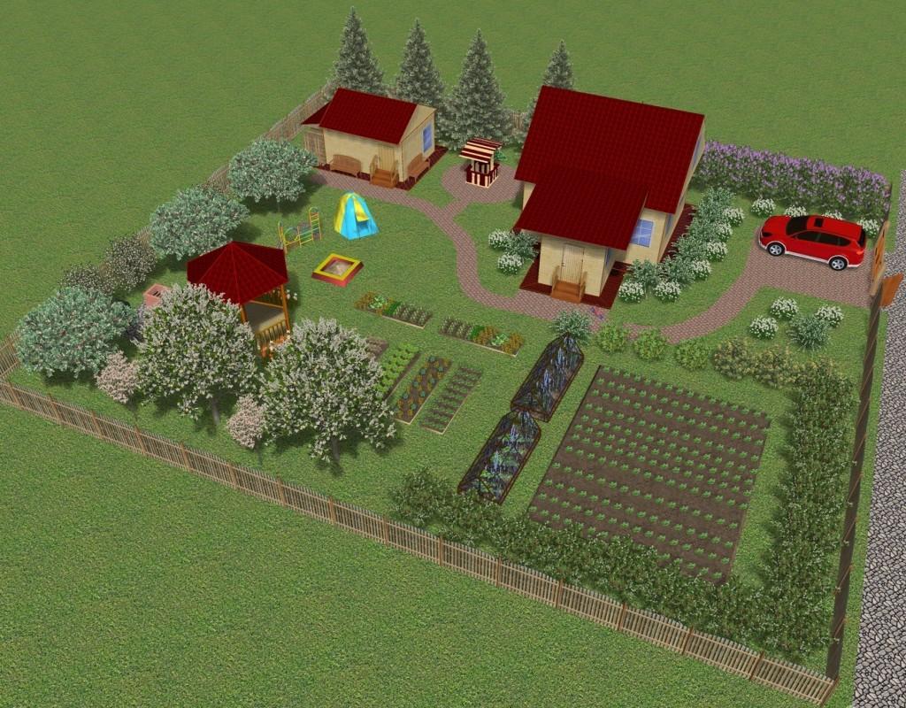 Plan de terrain avec maison et parking pour voiture