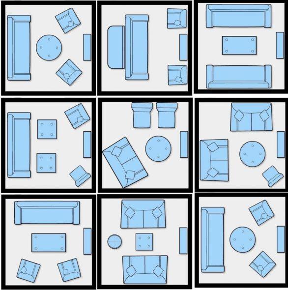 Bố trí ghế sofa và ghế bành trong nội thất của hội trường