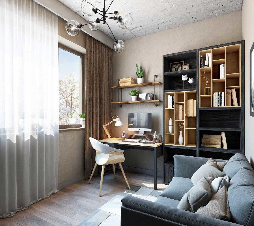 Thiết kế một căn phòng nhỏ có bàn làm việc