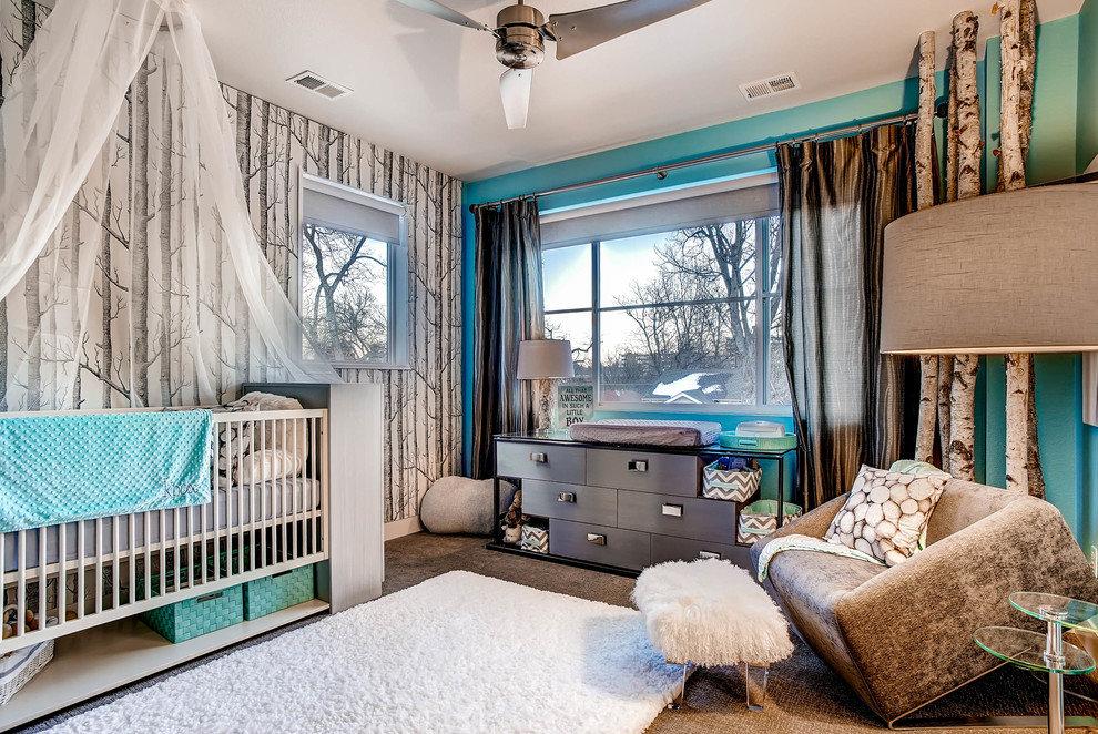 Moderne à l'intérieur d'une chambre d'enfant moderne