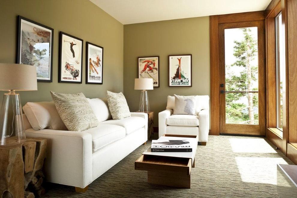 Salon d'angle dans une maison privée