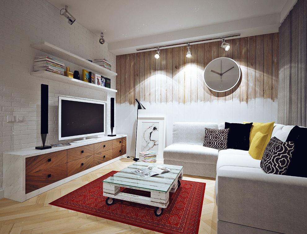 Table basse en vieille palette en bois