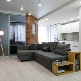 Góc sofa màu xám