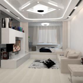 Công nghệ cao trong nội thất của một căn phòng nhỏ