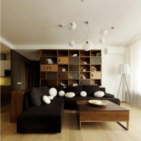 Tường mô-đun trong một căn phòng hiện đại
