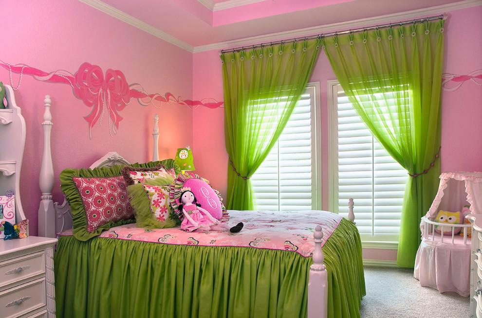 Textile vert à l'intérieur d'une chambre d'enfant