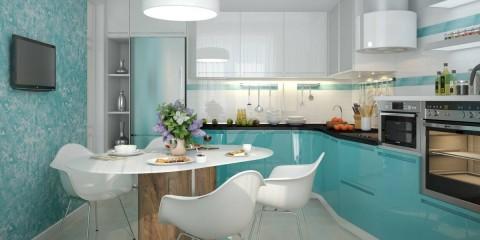 plâtre décoratif à l'intérieur de la cuisine
