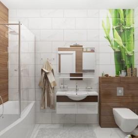 salle de bain 2019 avec bois