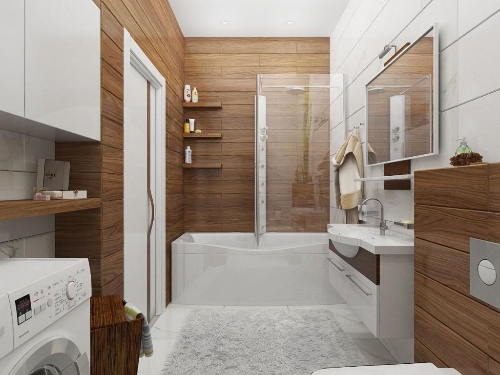 Décoration murale de salle de bain en bois