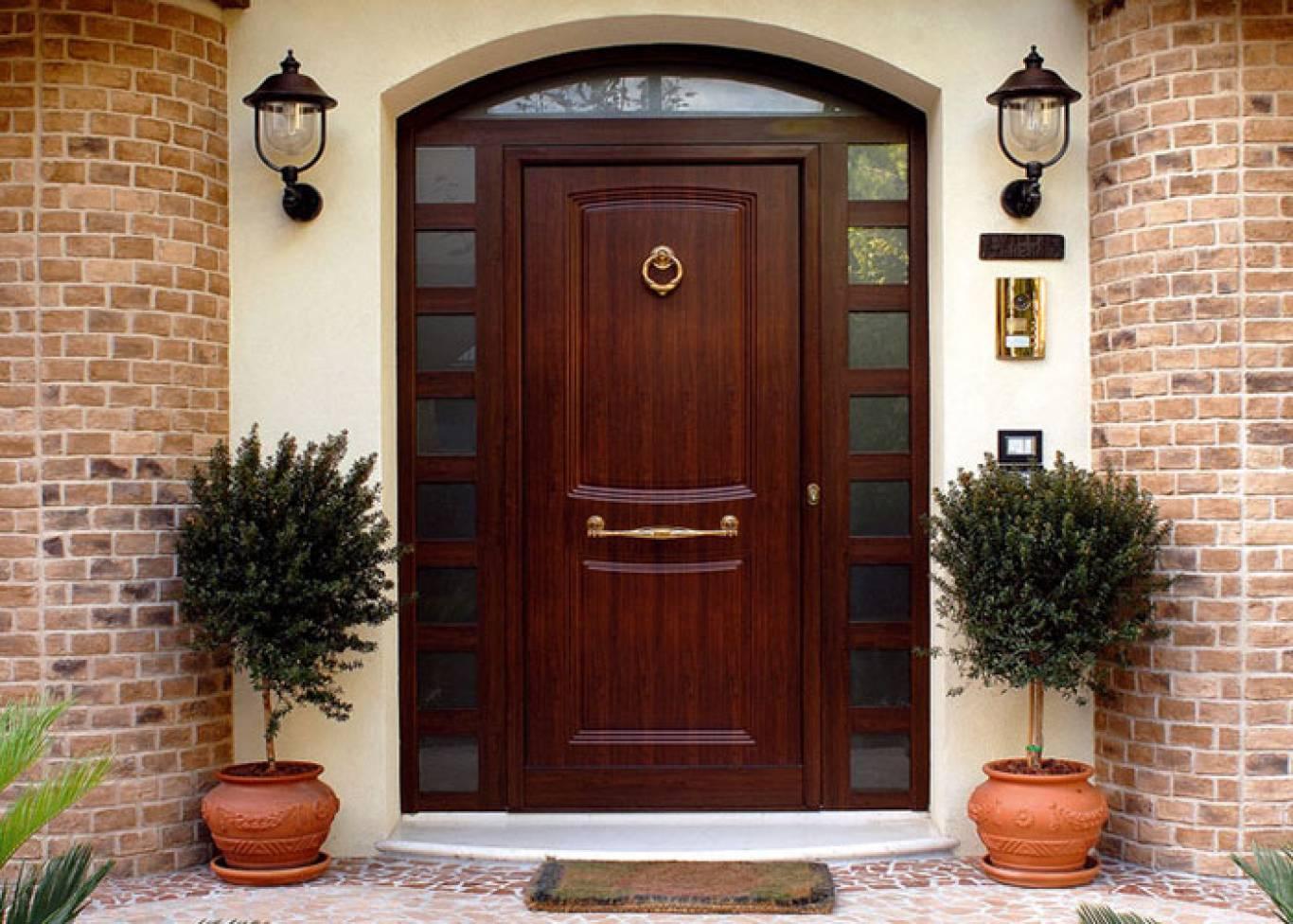 photo d'idées de porte d'entrée en bois