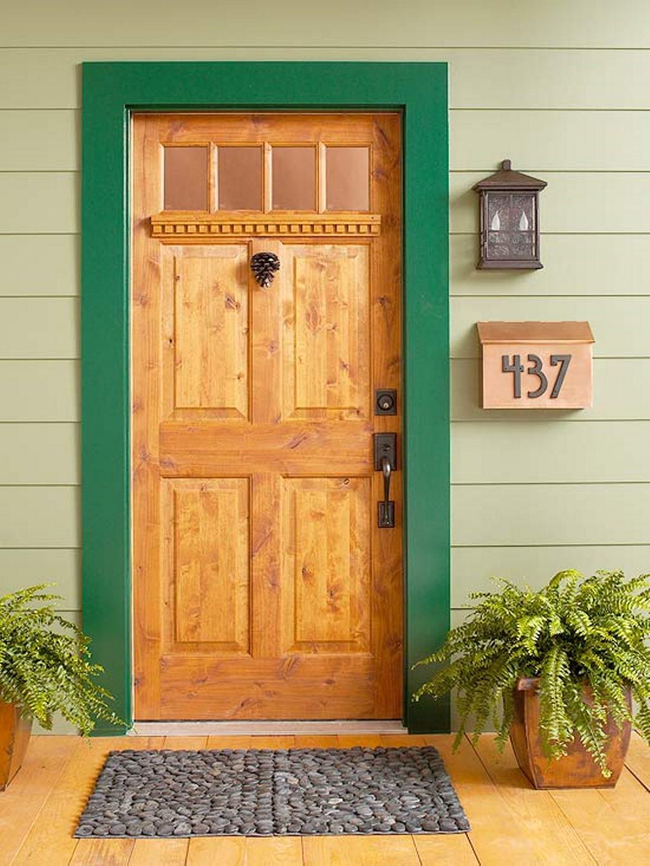 porte en bois à entrée unique