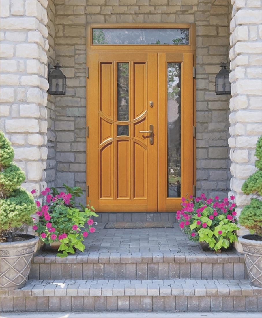 une porte et demie en bois