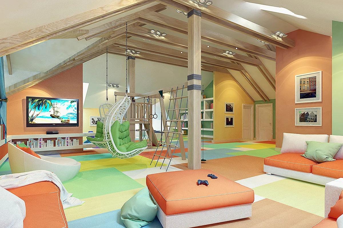 photo de conception de salle de jeux pour enfants