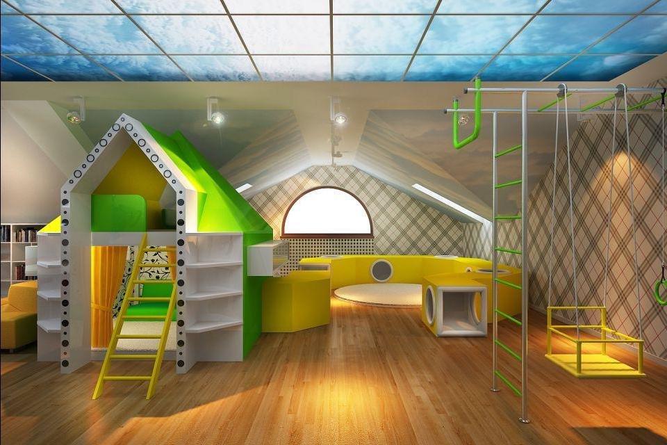 idées de photos de salle de jeux pour enfants