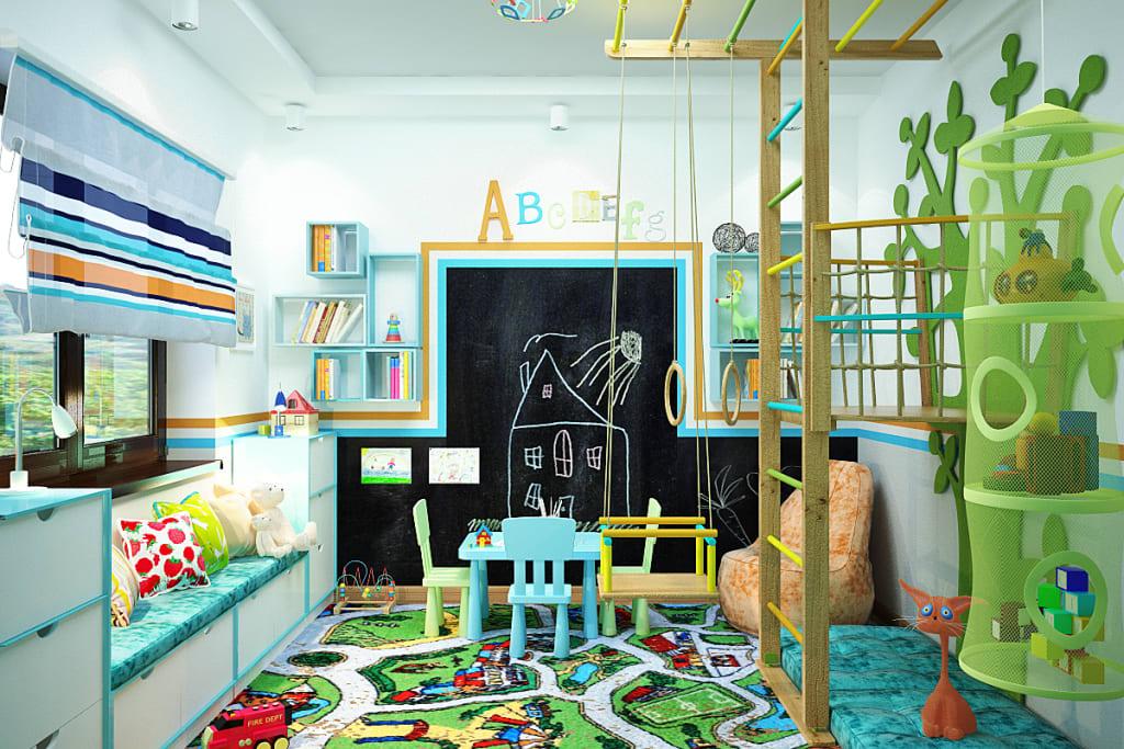 photo de la salle de jeux pour enfants