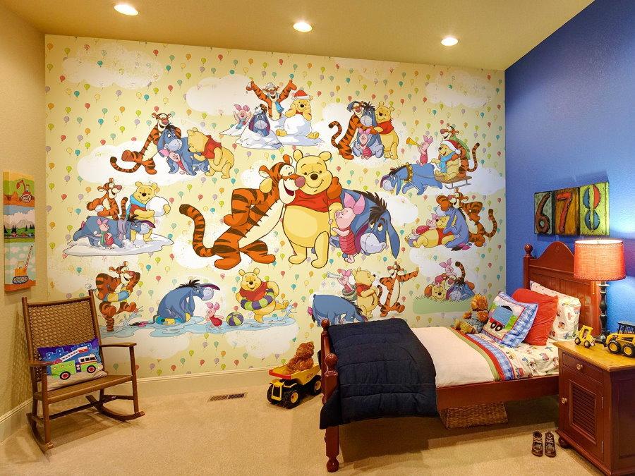 Papiers peints dans la chambre d'un petit garçon