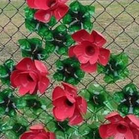 Décor filet de fleurs en plastique