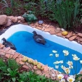Petit bassin de bain en fonte