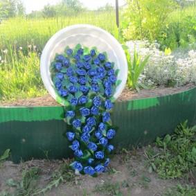 Parterre de fleurs original faites-le vous-même