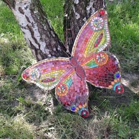Beau papillon mosaïque