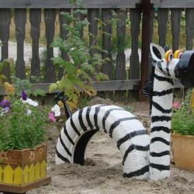 Artisanat de jardin à partir de pneus de voiture