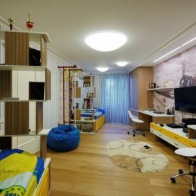 Chambre d'enfants allongée pour deux adolescents