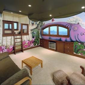 Concevez une chambre avec des peintures murales pour bébés