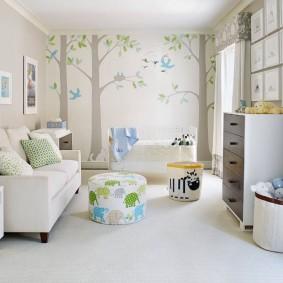 Papier peint lumineux pour la chambre d'enfant