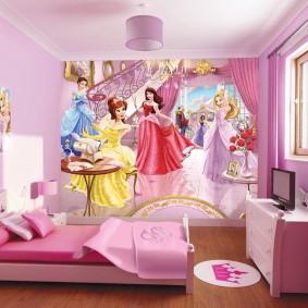 Décoration murale pour photo murale pour enfants avec des fées