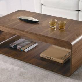 Surface de table basse stratifiée
