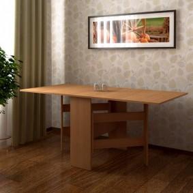 Motif rectangulaire sur la table à manger
