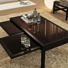 Bảng mở rộng trong bàn cho phòng khách
