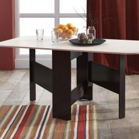 Table à manger dans un salon de style moderne