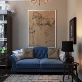 Peinture moderne à l'intérieur du salon