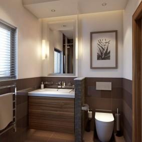 Image de décoration du mur au-dessus des toilettes