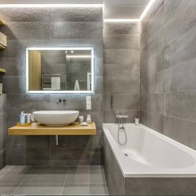 Lumières LED dans la salle de bain