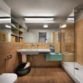 Mosaïque à l'intérieur de la salle de bain