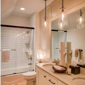 Luminaires de chaîne de salle de bain vintage